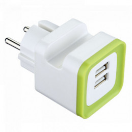 CARICABATTERIE 2 USB SUPPORTO          ELECTRALINE