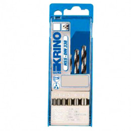 PUNTE HSS BOX PLASTICA Sr Pz 6 mm 2/8        KRINO