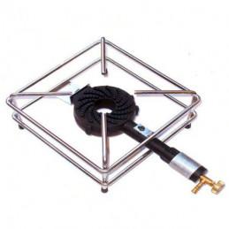 FORNELLONE GAS GPL 4 PIEDI CROMATO 30x30