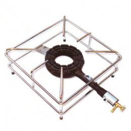 FORNELLONE GAS GPL 4 PIEDI CROMATO 40x40
