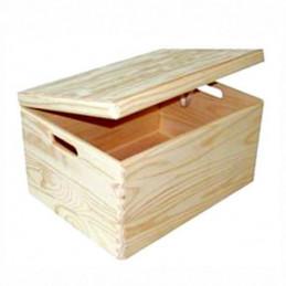 CONTENITORE BOX LEGNO PRATICA   cm 40x30 h 25 XTRA