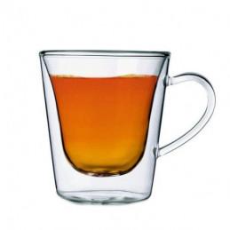 TAZZA CAFFE VETRO AMERICANO Pz 2 cc 295 L.BORMIOLI