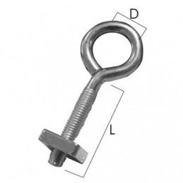 OCCHIOLO CON DADO ZN n.1 mm 5x20 d. 9 Pz 4   GEMAC