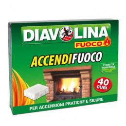 ACCENDITORE CUBETTI FUOCO Pz 40          DIAVOLINA