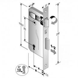 SERRATURA PATENT mm 8x90 E50 BQ                 GB